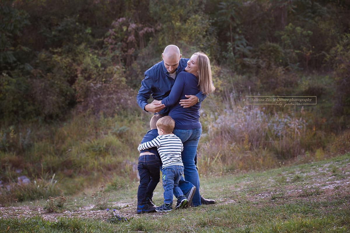 Familienbilder in der freien Natur