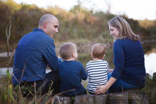 wundervolles Familienfoto der Vier von Zisch-Ortner