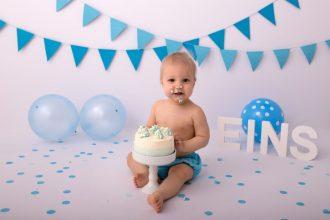 Cakes Smash angebotene Fotoshooting im Wiener Studio