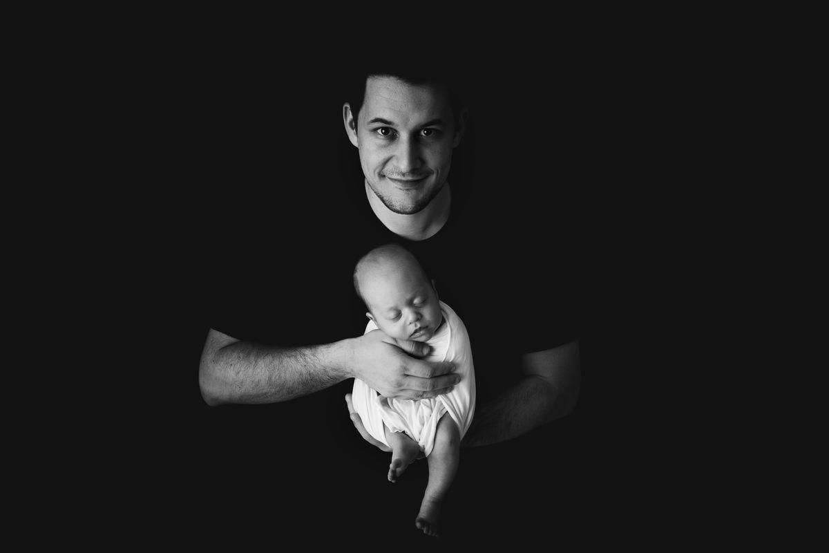 Nachher Sicherheit im Umgang mit Babys beim Fotografieren