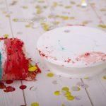 die letzten Überreste der Torte