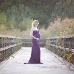 Schilfbrücke bei Wien für Babybauchfotoshooting