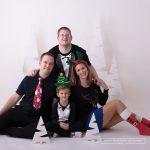 auch eine weihnachtliche Verkleidung fürs Weihnachtsfotos durfte im Studio nicht fehlen