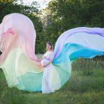 Regenbogenrock in pastellfarben fuer Fotoshooting in Wien