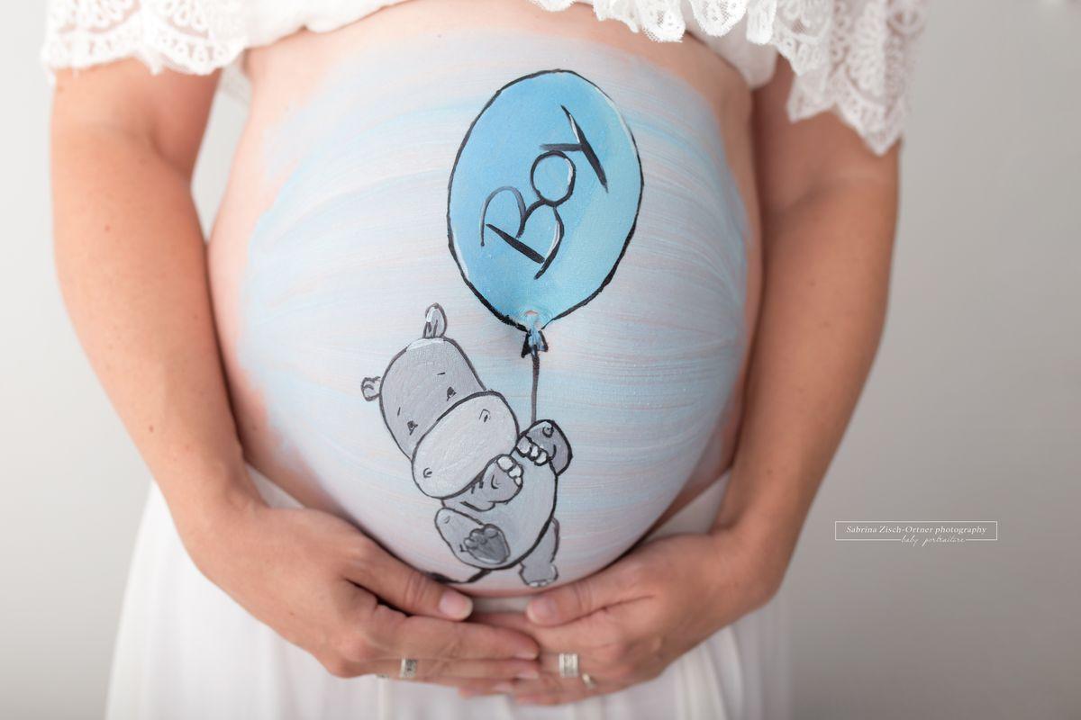 Motivauswahl fuer eigene Babybauchshooting Nilpferd