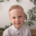 Nahaufnahme bzw Portrait des fuenfjaehrigen Jungen