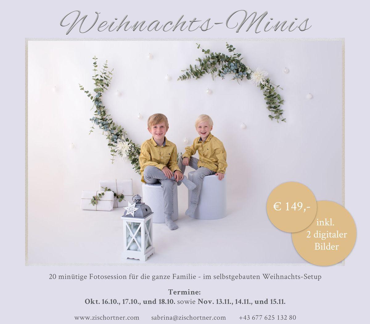 Weihnachtsminisession Setup Fotoshooting 2020 Zisch-Ortner Wien
