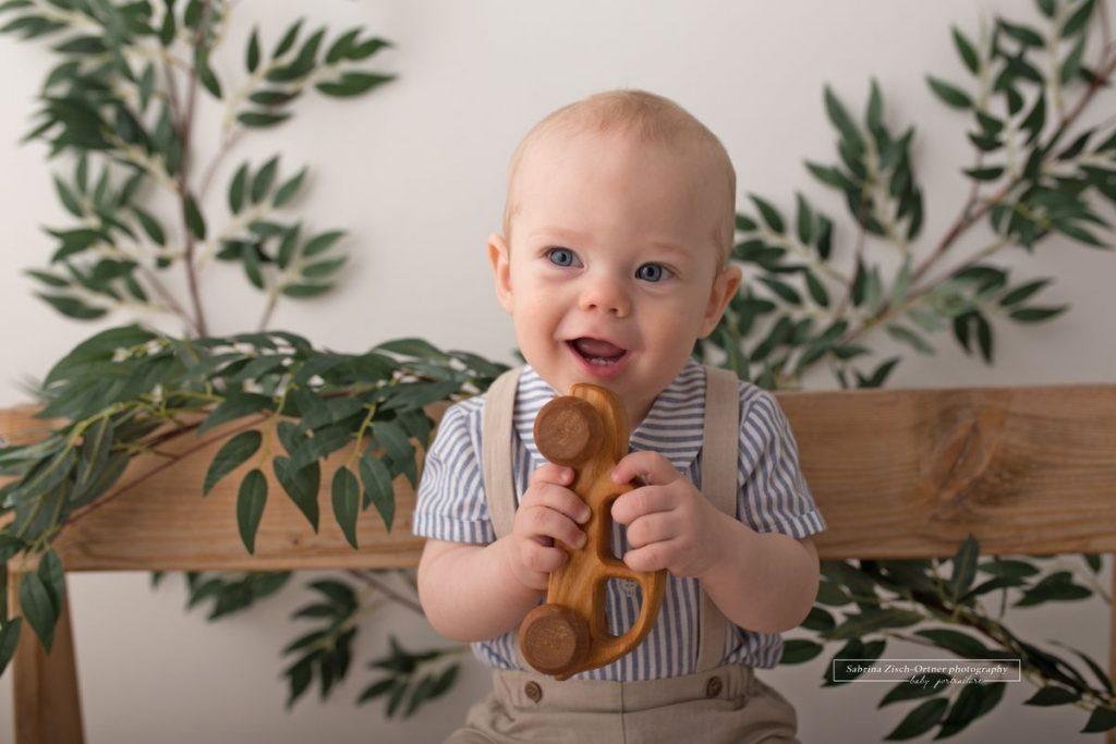 juengste Teilnehmer bei den Kindergarten Minis mit seinen knapp 9 Monaten