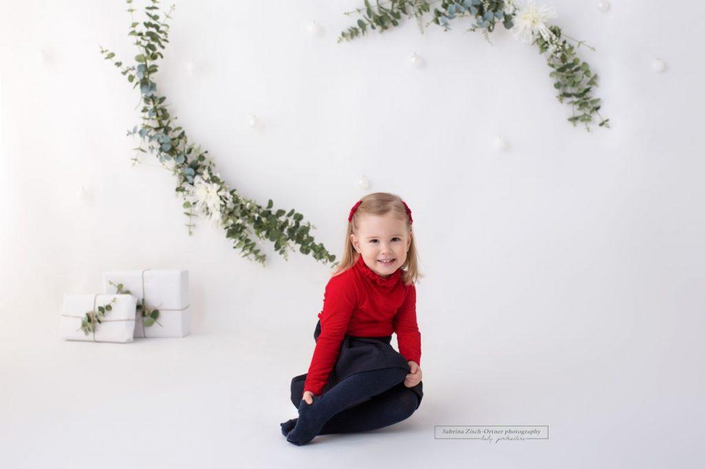 Einzelkind beim Fotoshooting