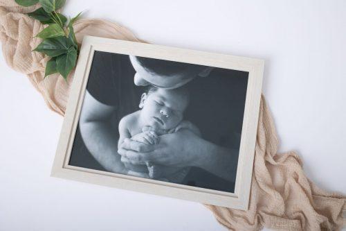 Fine Art Holzbilderrahmen Doppelbilderrahmen Neugeborenen Baby Familie