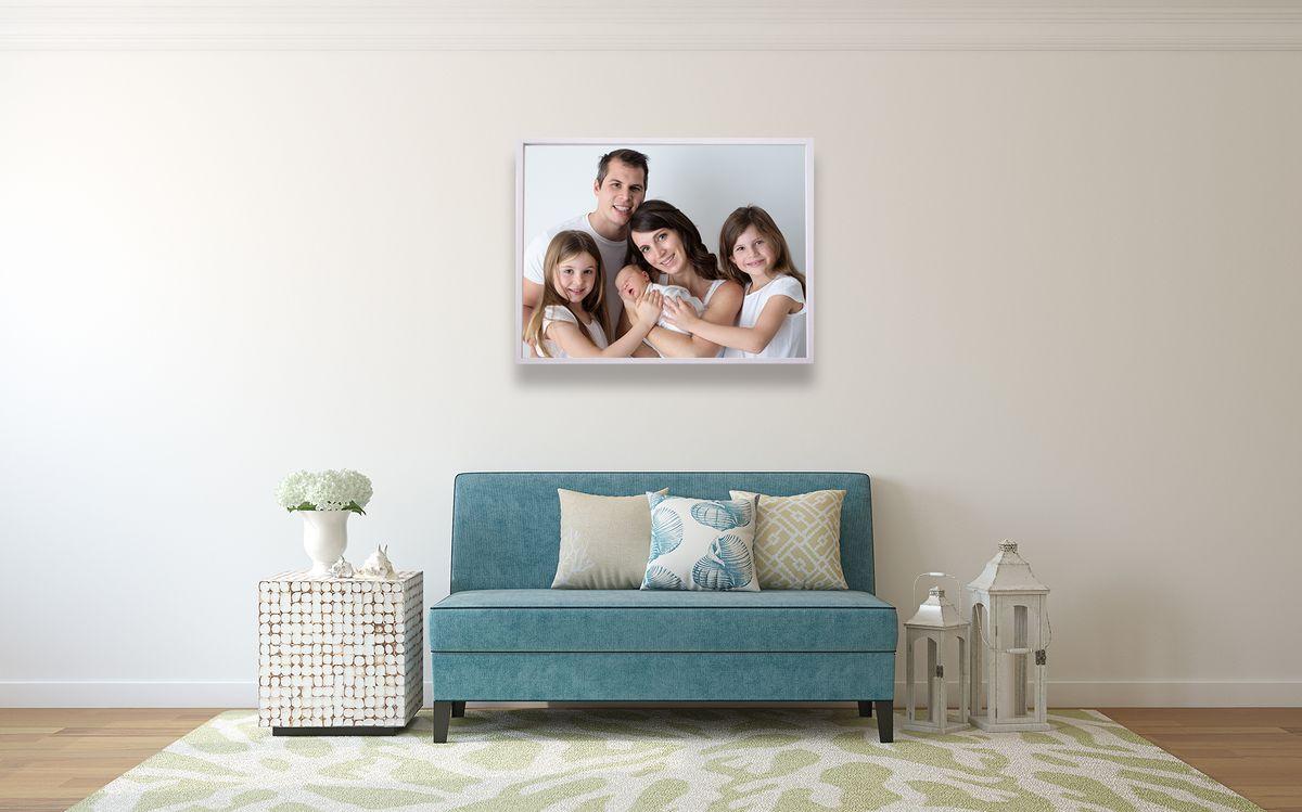 Gallery Aluminiumrahmen Familienfoto