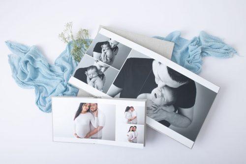 Papa und Tochter und Paarfotos bei Schwangerschaftsshooting im Fotoalbum