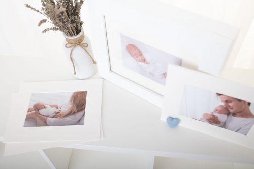 Passepartout Bilder vom Neugeborenenshooting