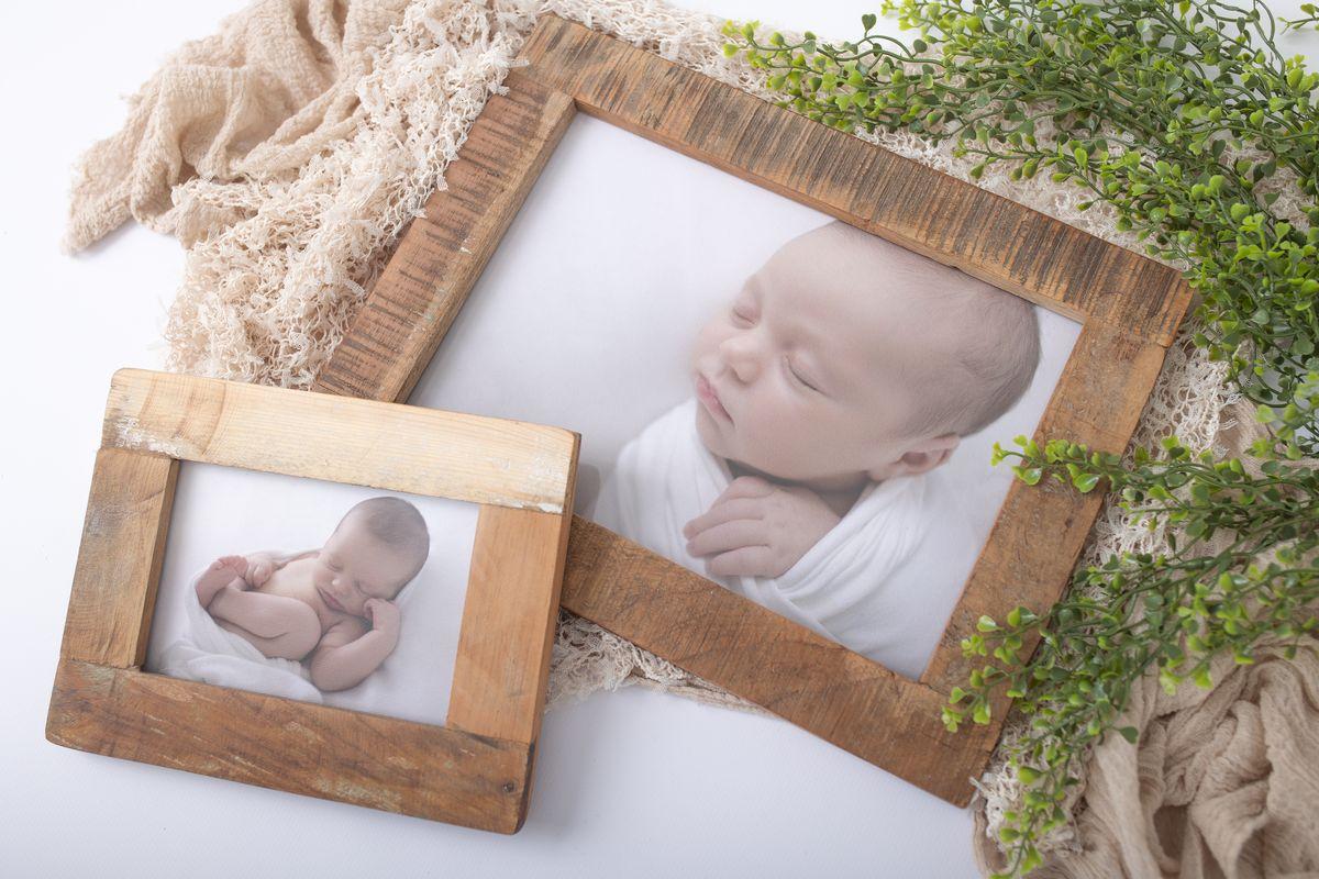 Photoblocks Holzbilderrahmen wiederverwertet