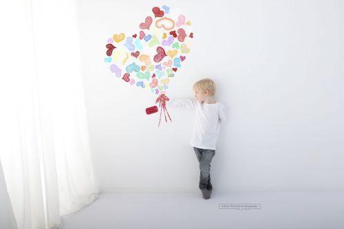 Blumengruß aus Herzen für Muttertag bei Shooting in Wien
