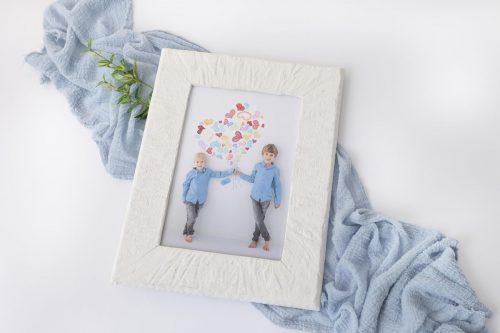 Holzbilderrahmen in weiß für Muttertag als besonderes Geschenk