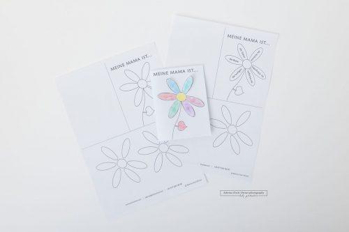Muttertag Karte Freebie Vorlage Geschenk für die beste Mama