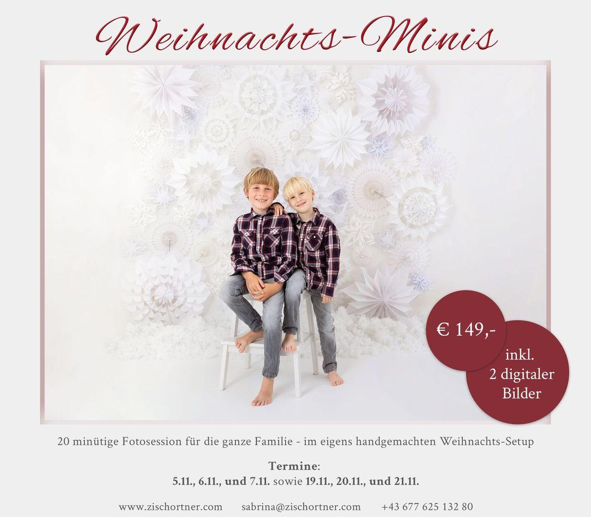 Weihnachtsmini Fotoshooting 2021 Familie Kinder Sabrina Zisch Ortner Wien